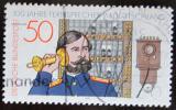 Poštovní známka Německo 1977 Sto let telefonů Mi# 947