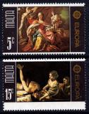 Poštovní známky Malta 1975 Evropa CEPT, umění Mi# 512-13