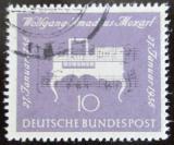 Poštovní známka Německo 1956 Klavichord Mi# 228