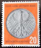 Poštovní známka Německo 1958 Měnová reforma Mi# 291