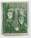 Poštovní známka Německo 1952 Chlapci a hostel  Mi# 153 Kat 23€