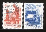 Poštovní známky Dánsko 1986 Evropa CEPT Mi# 882-83