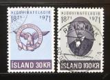 Poštovní známka Island 1971 Společnost patriotů Mi# 455-56