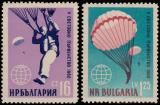 Poštovní známka Bulharsko 1960 Parašutismus Mi# 1170-71