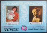 Poštovní známky Jemen 1968 Umění, Den matek Mi# Block 72 Kat 10€