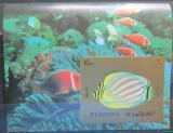 Poštovní známka Fudžajra 1973 Exotické ryby neperf. Mi# Block 141 B Kat 17€