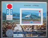 Poštovní známka Adžmán 1971 ZOH Sapporo neperf. Mi# Block 255 B Kat 13€