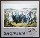 Poštovní známka Albánie 1974 Umění, Guri Madhi Mi# Block 53