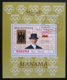 Poštovní známka Manáma 1969 LOH Mexiko, Josef Neckermann Mi# 207 A Block