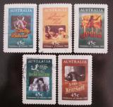 Poštovní známky Austrálie 1995 Filmové plakáty Mi# 1483-87 Kat 10€