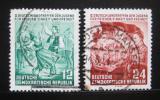 Poštovní známky DDR 1954 Setkání mládeže Mi# 428-29