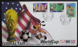 FDC Gibraltar 1994 MS ve fotbale Mi# 687-89