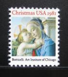 Poštovní známka USA 1981 Vánoce Mi# 1513