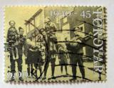 Poštovní známka Faerské ostrovy 2005 Vojáci s dětmi Mi# 544
