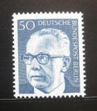 Poštovní známka Západní Berlín 1971 Prezident Heinemann Mi# 365