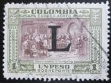 Poštovní známka Kolumbie 1950 Vyhlášení nezávislosti přetisk Mi# 586 Kat 5.50€