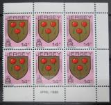 Poštovní známky Jersey 1986 Rodinný erb Messervy, ze sešitku