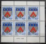 Poštovní známky Jersey 1986 Rodinný erb Le Maistre, ze sešitku