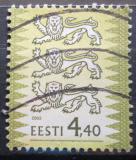 Poštovní známka Estonsko 2003 Státní znak Mi# 450