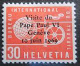 Poštovní známka Švýcarsko 1969 Návštěva papeže Mi# 103