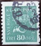 Poštovní známka Švédsko 1920 Poštovní trubka SC# 162 Kat $15