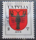 Poštovní známka Lotyšsko 2000 Znak Auce Mi# 421 C V