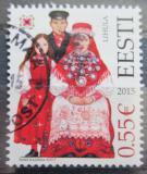 Poštovní známka Estonsko 2015 Lidové kroje Mi# 820