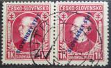 Poštovní známky Slovensko 1939 Andrej Hlinka pár Mi# 25