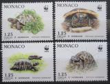 Poštovní známky Monako 1991 Želvy, WWF Mi# 2046-49