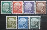 Poštovní známky Německo 1956-57 Prezident Heuss Mi# 259-65 Kat 40€