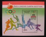 Poštovní známka Maďarsko 1985 Olympijský výbor, 90. výročí Mi# Block 175