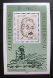 Poštovní známka DDR 1979 Albert Einstein Mi# Block 54