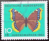 Poštovní známka Německo 1962 Motýl Mi# 377