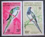 Poštovní známky Afars a Issas 1976 Ptáci Mi# 157-58 Kat 11€