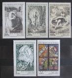 Poštovní známky Československo 1973 Umění, Švabinský Mi# 2160-64
