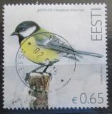 Poštovní známka Estonsko 2016 Sýkora koňadra Mi# 851