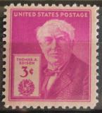 Poštovní známka USA 1947 Thomas Alva Edison Mi# 551