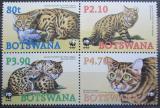 Poštovní známky Botswana 2005 Divoké kočky, WWF Mi# 817-20