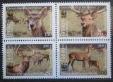 Poštovní známky Tadžikistán 2009 Jelen lesní, WWF Mi# 527-30