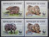 Poštovní známky Guinea 2009 Prase pralesní, WWF Mi# 6714-17 Kat 10€