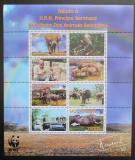 Poštovní známky Mosambik 2002 Slon africký, WWF Mi# 2393-96 Bogen