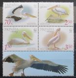 Poštovní známky Ukrajina 2007 Pelikán bílý, WWF Mi# 897-900 C