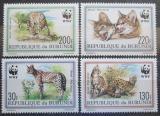 Poštovní známky Burundi 1992 Serval, WWF 133 Mi# 1758-61 Kat 13€
