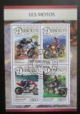 Poštovní známky Džibutsko 2016 Motocykly Mi# 1353-56 Kat 11€