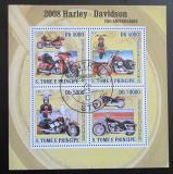 Poštovní známky Svatý Tomáš 2008 Harley Davidson Mi# 3297-3300 Kat 12€