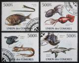 Poštovní známky Komory 2009 Mořská fauna Mi# 2690-93 Kat 9.20€