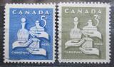 Poštovní známky Kanada 1965 Vánoce Mi# 387-88