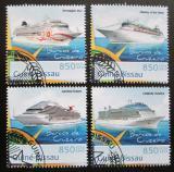 Poštovní známky Guinea-Bissau 2012 Výletní lodě Mi# 6279-82 Kat 14€