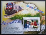 Poštovní známka Guinea 2008 Africká železnice Mi# Block 1577 Kat 10€