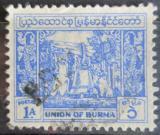 Poštovní známka Barma 1952 Zvon Mi# 126